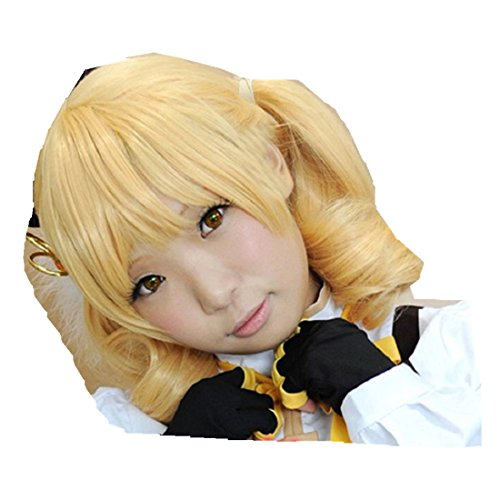 Tomoe Mami Costume (Puella Magi Madoka Magica Tomoe Mami cosplay costume wig)