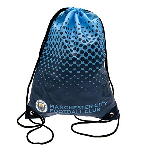 Manchester City FC Fade Design Drawstring Gym Bag (17.3 x 13in) (Blue/Black) (Manchester City Shoe Bag)