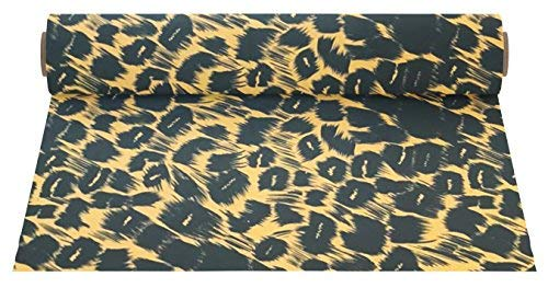 Firefly Craft Patterned Elastic Foil Heat Transfer Vinyl for Silhouette and Cricut, 12.5 Inch by 5 Feet Roll, Leopard