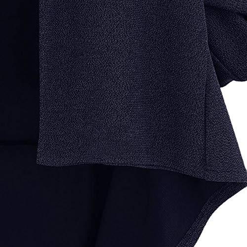 Coat 3 Winter Cropped Lapel Womens Lazzboy Woolen Plain Jacket Loose Batwing Blue Outerwear Sleeve 4 qatTEp