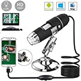 YOCOM 2.0Megapixel HD USB Digital Microscope Camera 50X to1000X Magnification Handheld Mini Endoscope with 8 LED Light Adjustable Metal Stand Educational or Hobby Microscopes Toy for Kids Student