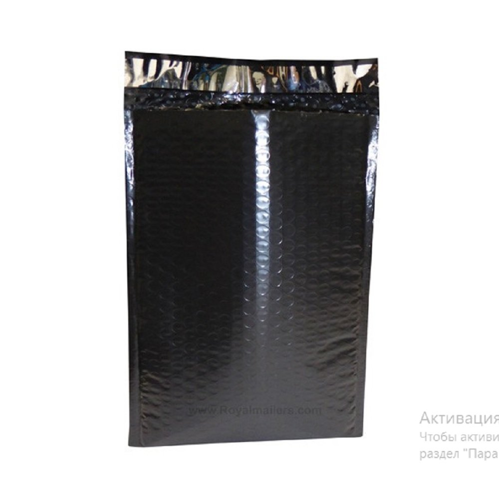 Black Poly Bubble Mailers 7.25 x 11 Padded Envelopes 7 1/4 x 11 by Amiff. Pack of 20 Poly Cushion Envelopes. Exterior Size 8x12 (8 x 12). Peel and Seal. Mailing, Shipping, Packing, Packaging.