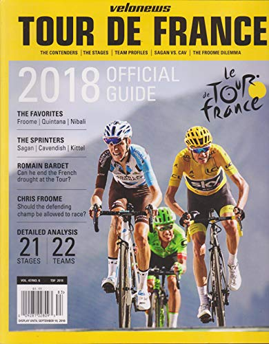 Velonews Magazine Official Guide to The Tour De France 2018