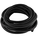 Corrugated Wire Cable Conduit Tubing Tube Pipe 16mm OD 10M Long Black R SODIAL