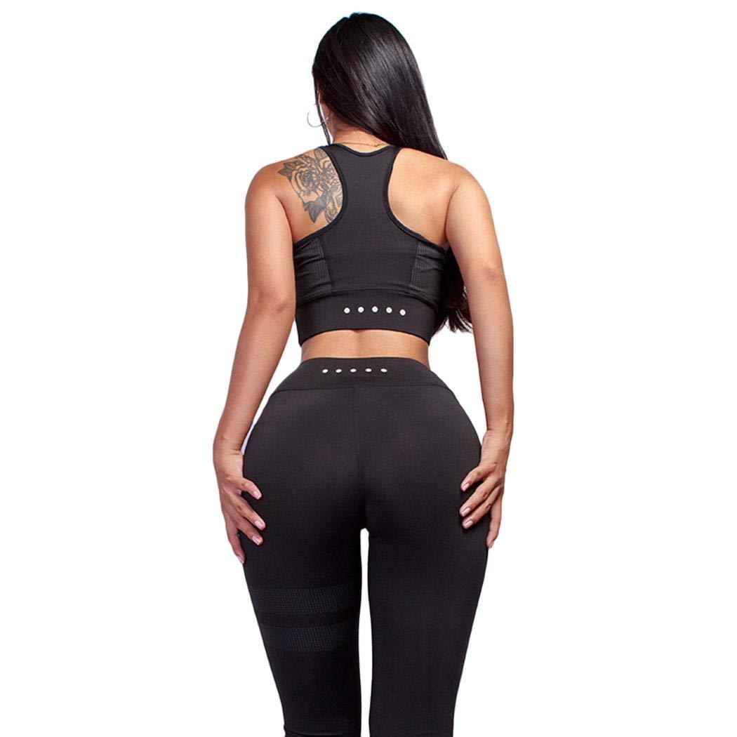 comfi1 Women Casual O Neck Sleeveless Fitness Running Yoga Tops Leggings Active Tracksuits