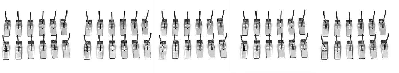 Proslat 13002 4-Inch Steel Hooks Designed for Proslat PVC Slatwall, 12-Pack (5-(Pack))