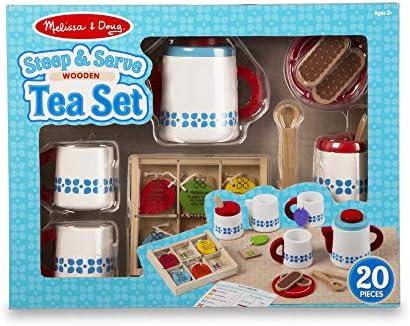 Amazon Com Melissa Doug Steep Serve Tea Set Toy Toys Games