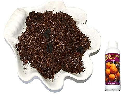 2.5 QUARTS - Organic Potting Soil, Potting Compost Mix for Citrus Orange Fruit Tree, 4 Ingredients with Charcoal + Bottle of Liquid Worm Castings Fertilizer. Get it in 3-9 Business Days