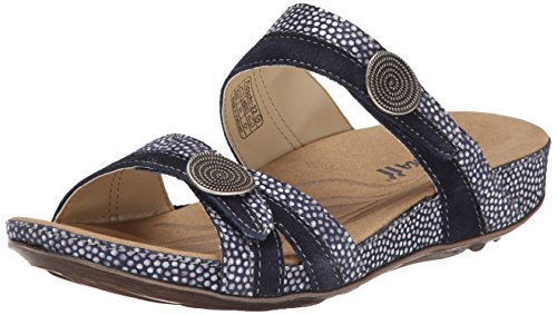 Romika Women's Fidschi 22 Sandal, Blue, 40 M EU (9-9.5 US) by Romika