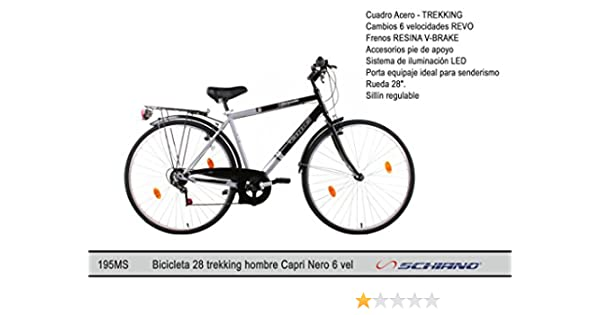 Schiano Cicli Bicicleta 28 Trekking 06V. Mod. Capri: Amazon.es ...