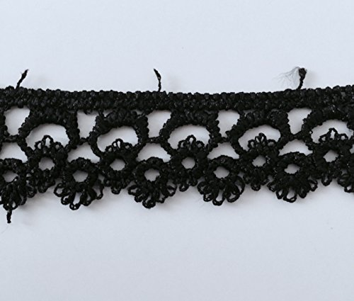 5 Yards Black Lace Trims Stretch Edging Edge Trim Craft Supplies Fabric Sewing Embellishments & Finishes Black Polyester 7/8