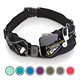 Sport2People Running Pouch Belt – iPhone 6, 7 Plus Holder for Runners – Best Running Gear for Hands Free Workout – Fanny Waist Pack with Two Pockets – Water Resistant & Reflective Fitness Accessories