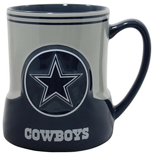 Dallas Cowboys Candle - Dallas Cowboys 20 Ounce Game Time Sculpted Logo Relief Coffee Mug