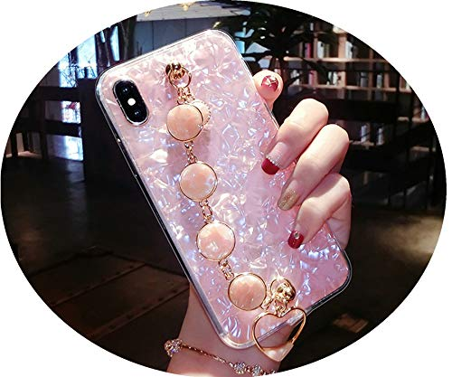 - Glitter Phone Case for iPhone XR XS MAX Diamond Bracelet Shell Pattern Cases for iPhone X 8 7 6 6S Plus Soft Silicone Back Cover,Pink,for iPhone XR
