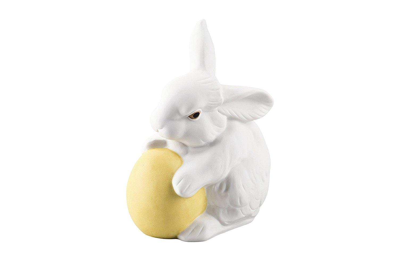 Hutschenreuther –  02474 –  725852 –  87032 decorato Coniglio con uovo, Porcellana,, 10 x 7 cm 10x 7cm Rosenthal GmbH 02474-725852-87032
