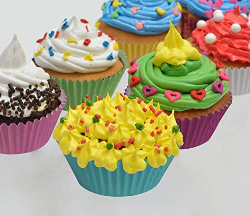 MontoPack 300-Pack Holiday Party Mini Paper Baking Cups - No Smell, Safe Food Grade Inks and Paper Grease Proof Cupcake Liners Perfect Cups for Cake Balls, Muffins, Cupcakes, and Candies