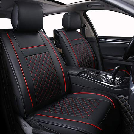 Seat Cover Only Front Leather Universal Car Seat Cover for Lada Kalina 1 2 Largus Priora Vesta Xray,BYD F3 F6 G3 G6 L3 S6 of 2018 2017 - Qx56 Mesh