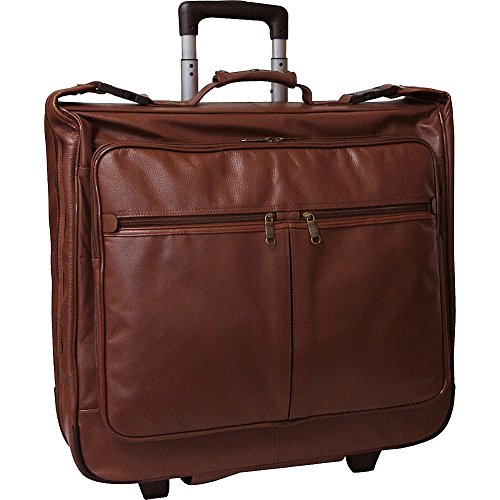 AmeriLeather Wheeled Leather Garment Bag (Brown)