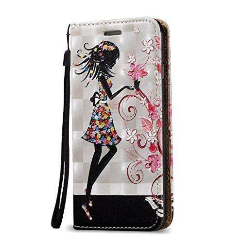 Mobile protection Para el iPhone 7 3D Alivio pluma patrón horizontal Flip caja de cuero con titular y ranuras para tarjetas y cordón ( SKU : Ip7g0621d ) Ip7g0621e