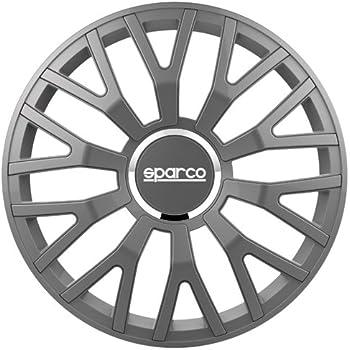 Sparco SPC1410GR Leggera Wheel Covers, Grey, Set of 4, 14