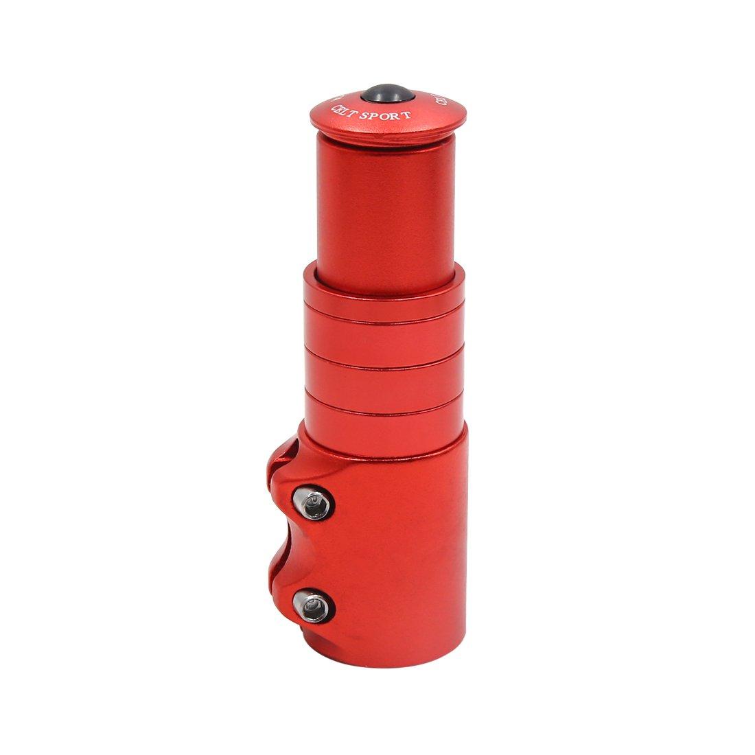 uxcell Red Aluminum Alloy Handlebar Fork Stem Riser Head Up Adapter Extender for Bike