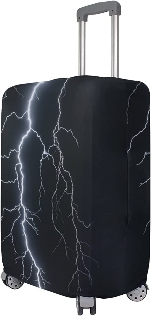 Dark Flash Lightning Travel Luggage Cover Stretchable Pulling Cloth Suitcase Protector Fits 18-20 Inches Luggage