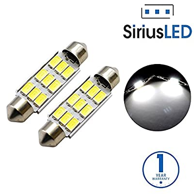SiriusLED 5730 Chip Super Bright SMD LED Bulbs for Trunk License Plate Door Courtesy Interior Car Lights Dome 41MM 42MM Festoon 578 211-2 212-2 6000K Xenon White