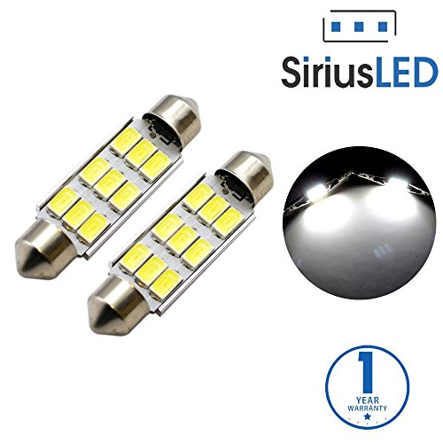 SiriusLED 5730 Chip Super Bright SMD LED Bulbs for Trunk License Plate Door Courtesy Interior Car Lights Dome 41MM 42MM Festoon 578 211-2 212-2 6000K Xenon - Plymouth Voyager Door