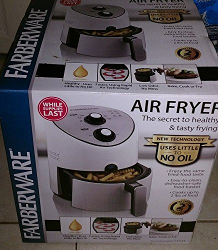 Fryer, Air White 2.5 l basket with non-stick coating