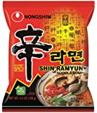 Nongshim Shin Noodle Ramyun, Gourmet Spicy Picante, 4.2-Ounce Packages (Pack of 16)