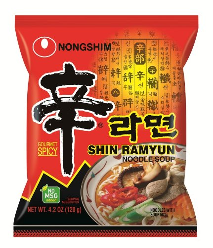 Nongshim Shin Noodle Ramyun  Gourmet Spicy Picante  4 2 Ounce Packages  Pack Of 20