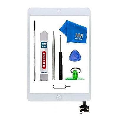 MMOBIEL® Digitalizador Pantalla táctil Frontal para iPad Mini 1/2 (Blanco) 7.9 Pulgadas Incluye IC Chip Cable Flex Soporte cámara Adhesivos pre instalados Kit Herramientas