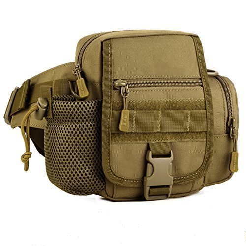 (Aseun Multifunctional Outdoor Tactical Package Motorcycle Sports Ride Men Nylon Pack Satchel Purse Riding Package Hunting Tool Waist Pack )