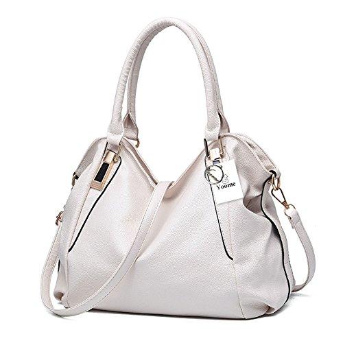 tout durable femmes Yoome cuir dames seau Hobo en bandoulière blanc rouge sacs bandoulière main pour les fourre sacs à sacs à Vintage à main sac qAF1vq7w