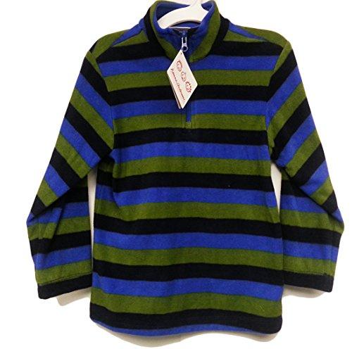 Hanna Anderson Boy's 1/4 Zip Sweater, Green, 6/7