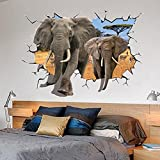 Beddinginn Top Quality Amazing Africa Elephant 3d Decorative Wall Sticker offers