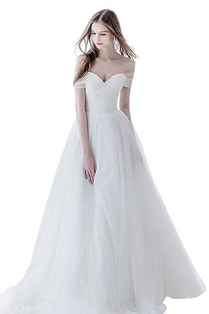cecbf98b7 Aurora Bridal Elegant Beach Wedding Dress Long Evening Dress at Amazon  Women s Clothing store