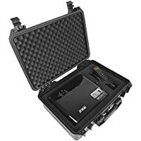 DROPSAFE Hard Carrying Case for iRulu P4, Tenker, ColoFocus Home Cinema Theater Video Projector w/ Dense Foam - Fits Projector, Cables, Remote, Screw Cap, and Accessories - Waterproof and Dustproof