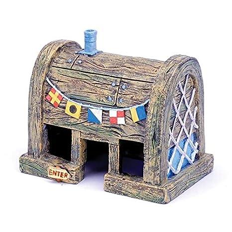 VIDOO Refugio De Peces Acuario Yani Decoración Refugio Casa Pecera Ornamento Acuático Realista: Amazon.es: Hogar