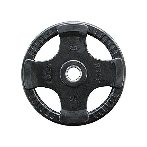 Body-Solid Olympic 4-Griff Gummi Hantelscheibe ORTK