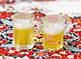 1:12 Dollhouse Miniature Kitchen 2PCS Glass of Beers Cup FE17 by Minidreamworld