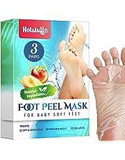 HOTSTUFFZ Peach Foot Peel Mask - Effective For Cracked Heels Repair, Remove Dead Skin, Callus & Dry Toe Skin - Baby Soft Feet - Exfoliating Peeling Natural Treatment…