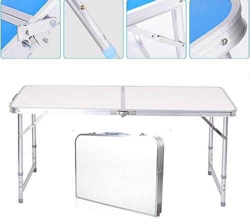 DSA Trade Shop 4FT Folding Camping Table Aluminium Picnic Portable Adjustable Party BBQ New