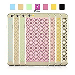 QYF Angibabe 0.3mm Ultra-thin TPU Small Grid Pattern Case Cover for iPhone 6 (Assorted Color) , Blue