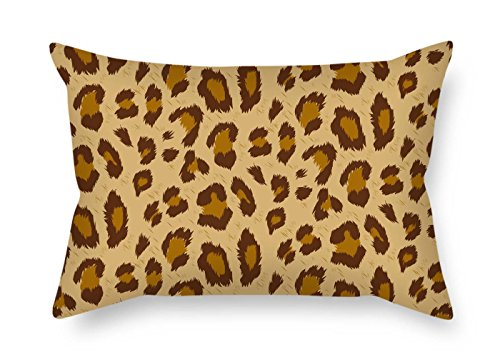 - beeyoo Throw Pillow Case of Leopard for Outdoor Wife Family Adults Lounge Dining Room 20 X 26 inches / 50 by 65 cm(Two Sides)