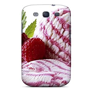 Flexible Tpu Back Case Cover For Galaxy S3 - Pink Ice Cream