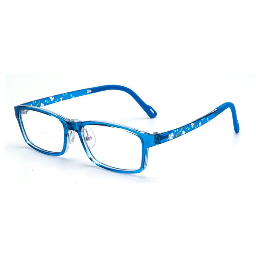 Fantia Children TR90 Eyeglass Frame Kids Eyewear Cute Legs Graffiti for Toddler (Blue)