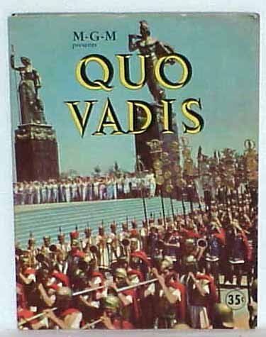 Quo Vadis 1951 Movie Vintage Souvenir Program