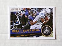 2013 Score #262 Ed Reed ROAD TO THE SUPERBOWL Trading Card in a Protective Case - Baltimore Ravens