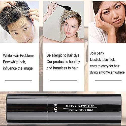 Pluma de tinte para el cabello temporal - Tiza de peluquería profesional - Lápiz para tinte para el cabello, Barra para el color del cabello - Lápiz ...